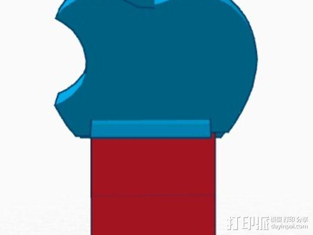 苹果设备站架 3D模型  图3