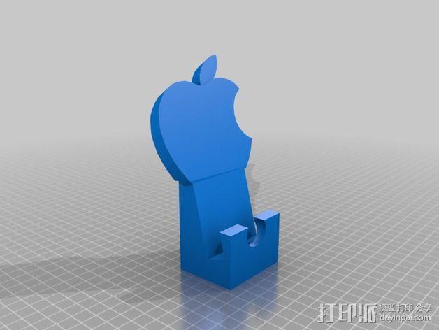 苹果设备站架 3D模型  图1