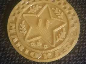 马里奥小星星徽章奖牌 3D模型