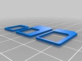 SIM卡适配器 3D模型