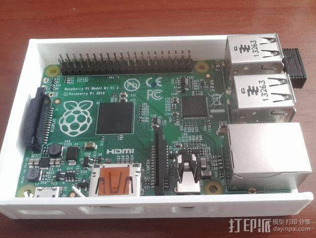 树莓派外盒 3D模型  图2