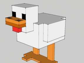 我的世界小母鸡 3D模型