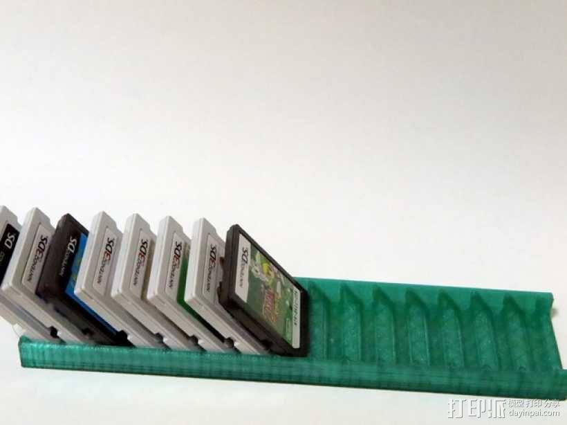 任天堂 3ds 游戏卡收纳盒 3D模型  图1