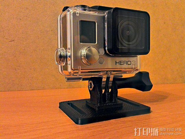 GoPro 相机外框支撑架 3D模型  图3