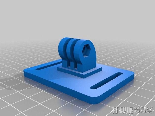 GoPro 相机外框支撑架 3D模型  图2