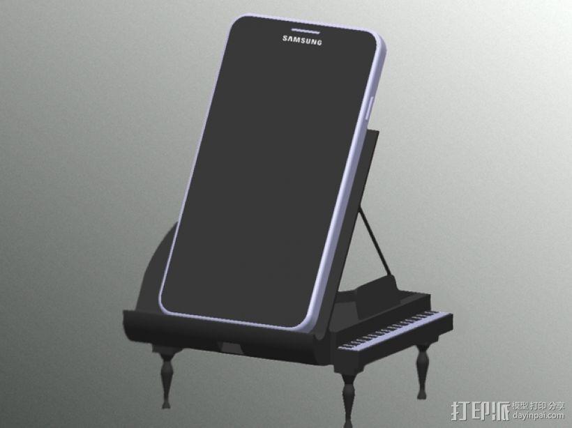 钢琴手机座 3D模型  图1