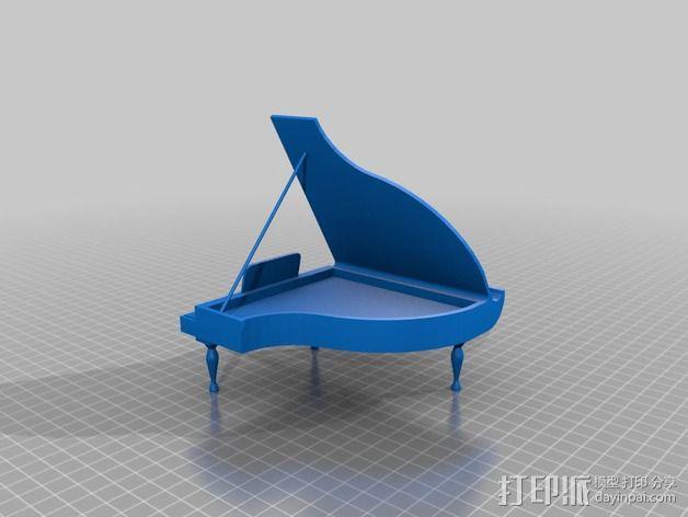 钢琴手机座 3D模型  图2