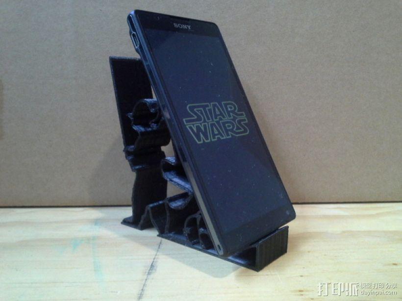 尤达大师手机支撑架 3D模型  图1