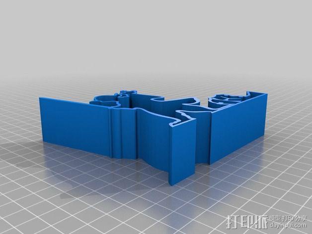 尤达大师手机支撑架 3D模型  图2