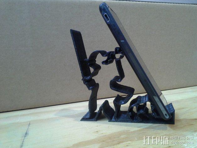 尤达大师手机支撑架 3D模型  图4