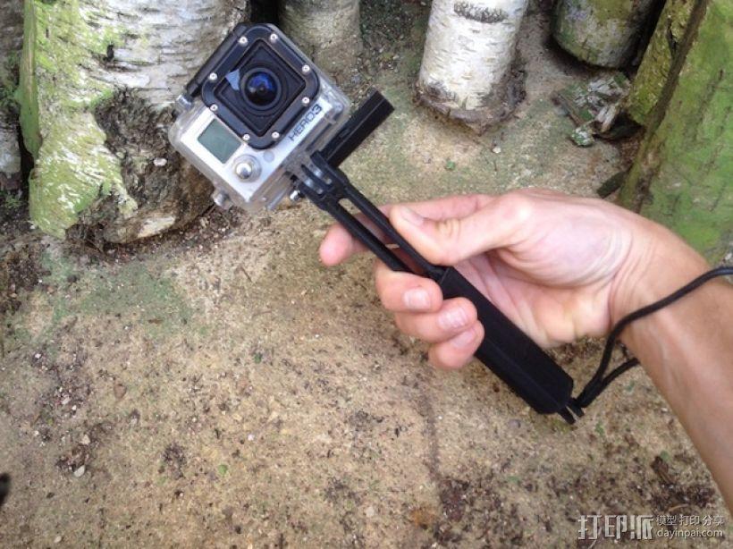 Gopro相机支撑手柄 3D模型  图1