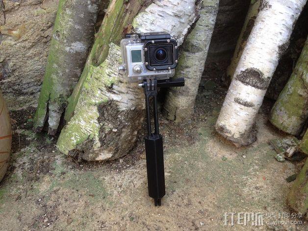 Gopro相机支撑手柄 3D模型  图3