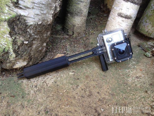 Gopro相机支撑手柄 3D模型  图4