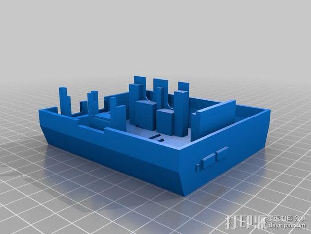 树莓派保护外壳 3D模型  图4