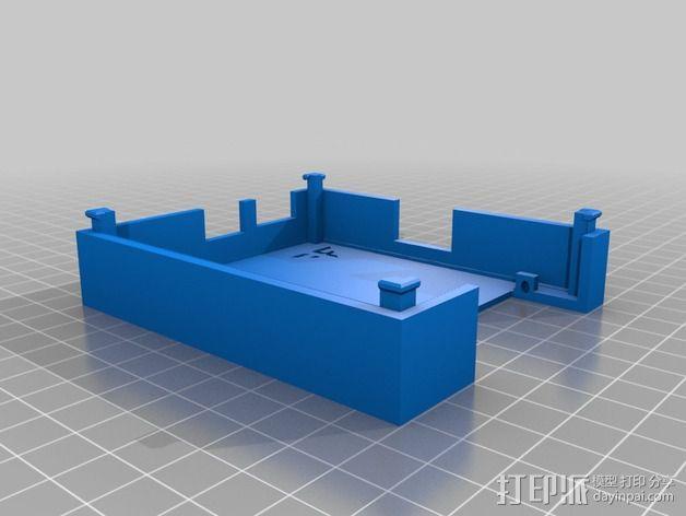 树莓派保护外壳 3D模型  图5