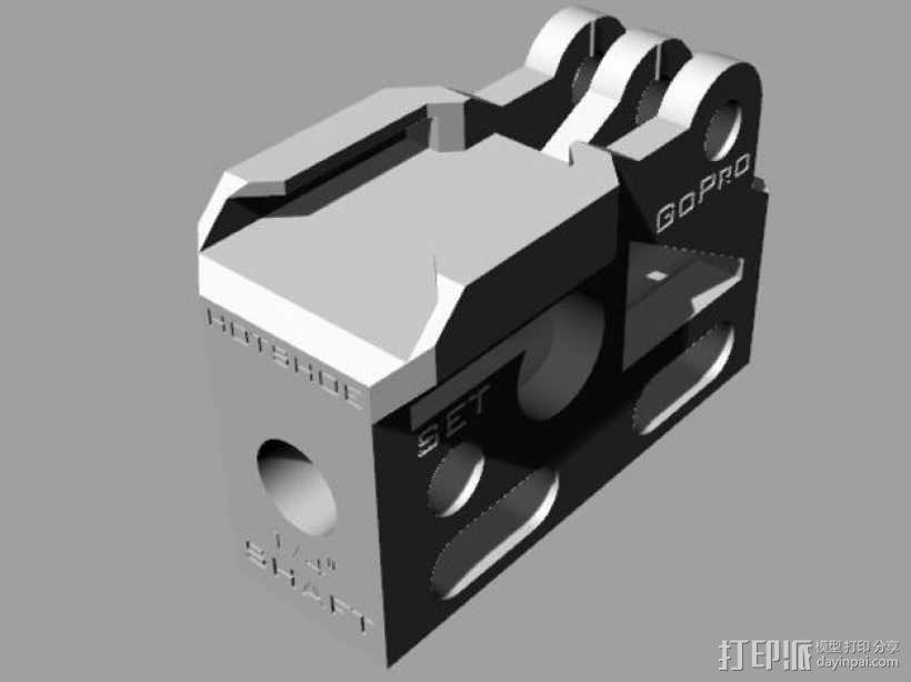 GoPro相机/反光伞连接器 3D模型  图1