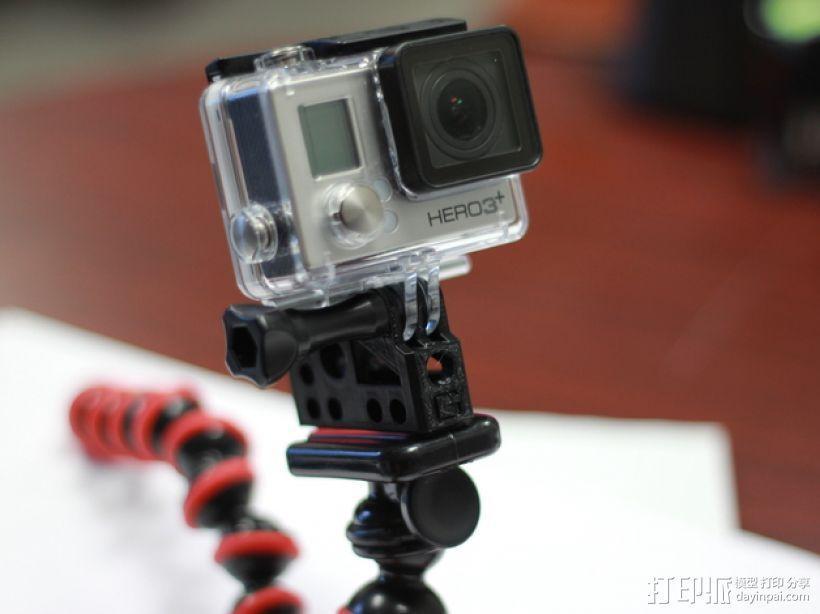GoPro相机/反光伞连接器 3D模型  图2