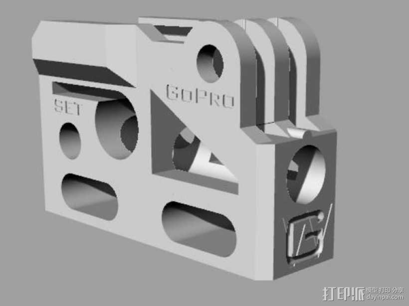 GoPro相机/反光伞连接器 3D模型  图12