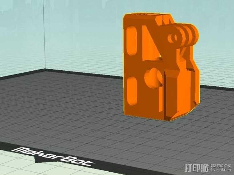GoPro相机/反光伞连接器 3D模型  图16