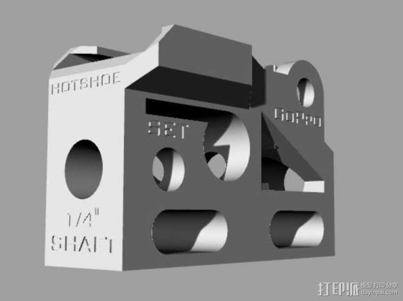 GoPro相机/反光伞连接器 3D模型  图14