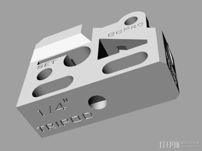 GoPro相机/反光伞连接器 3D模型  图15