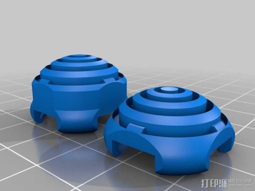 ps3游戏机手柄控制器棒 3D模型  图4
