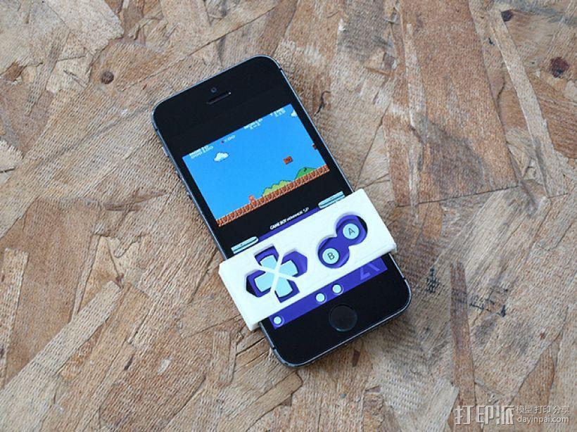 Gameboy 游戏机面板式iPhone手机壳 3D模型  图2