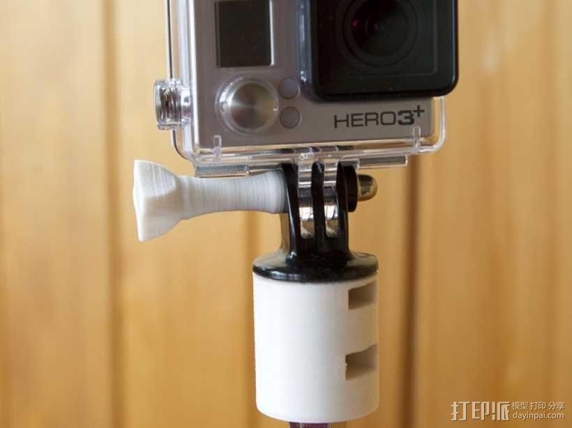 GoPro相机底座 支撑杆  3D模型  图1