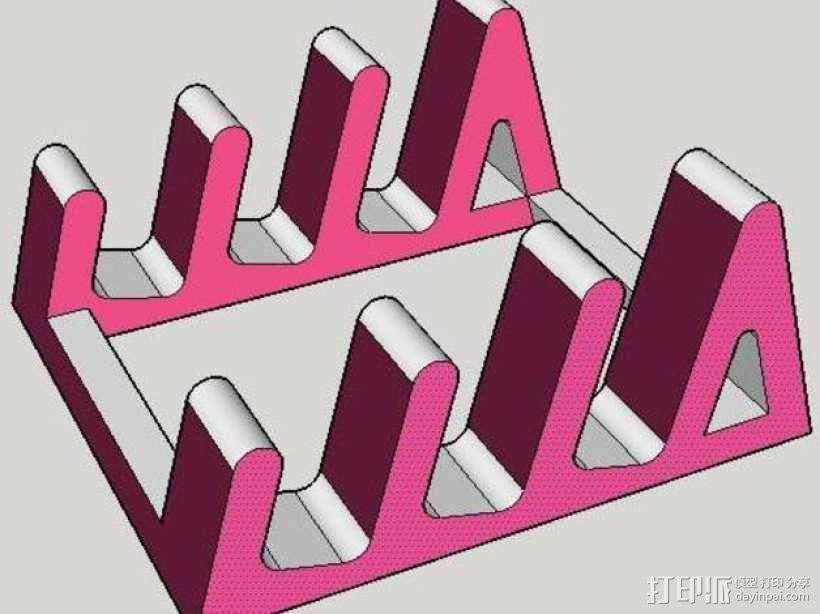 平板电脑支撑架 3D模型  图1