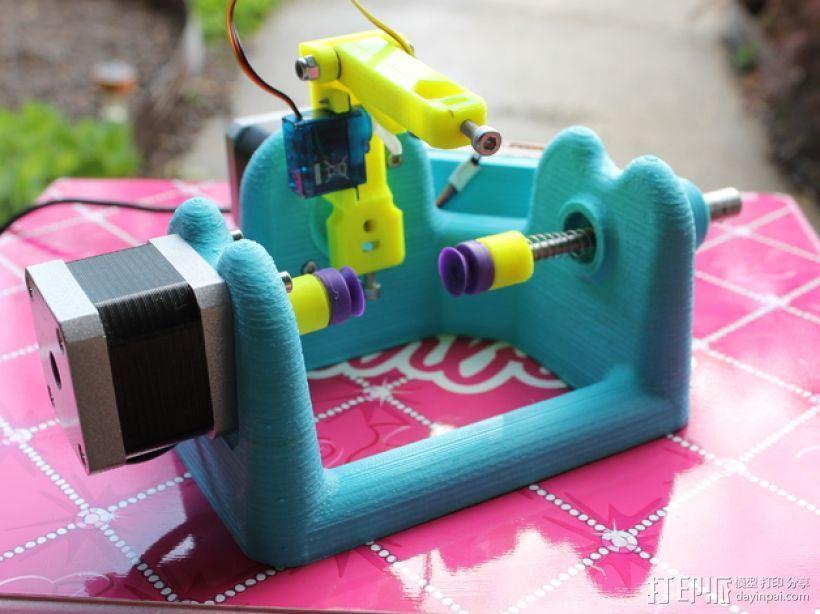刻字机 画图机 3D模型  图10