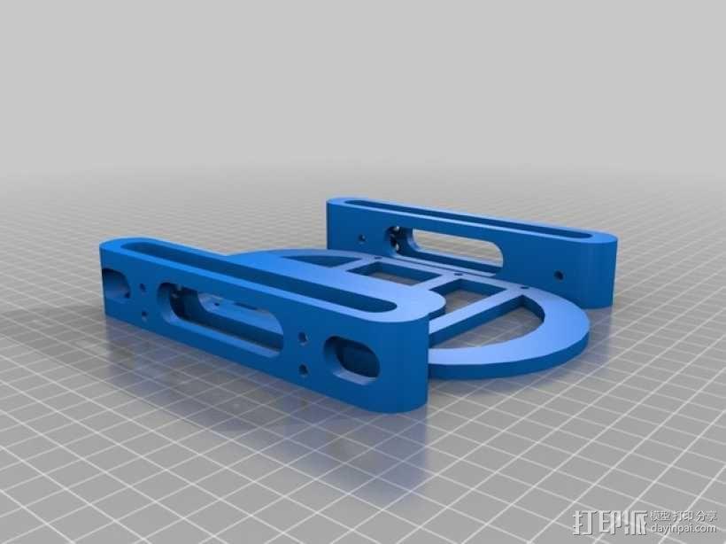 硬盘固定架 3D模型  图2