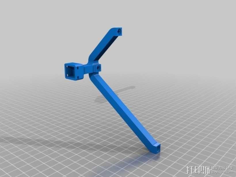 头部跟踪指示器固定架 3D模型  图1