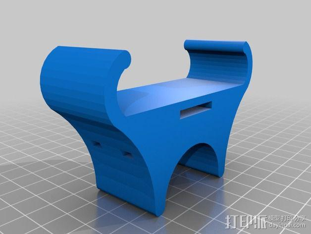 自行车载手机座 3D模型  图3