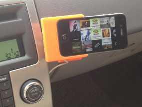 车载式iPhone 4/4s手机充电座 3D模型