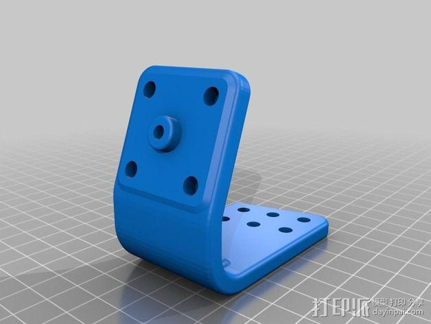 车载式iPhone 4/4s手机充电座 3D模型  图3