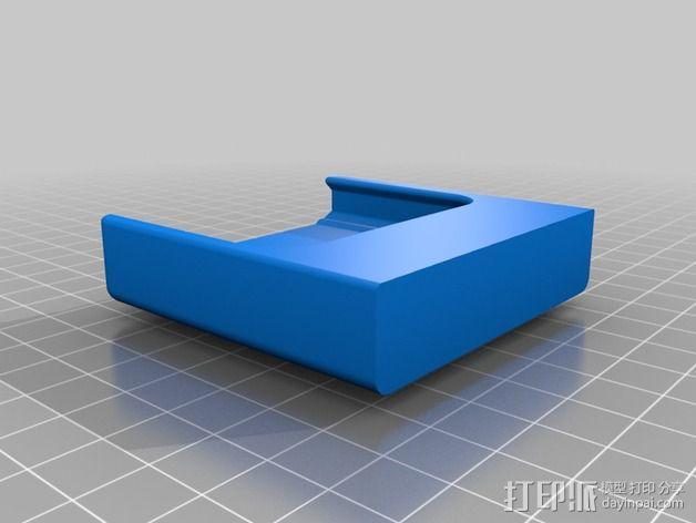 车载式iPhone 4/4s手机充电座 3D模型  图4