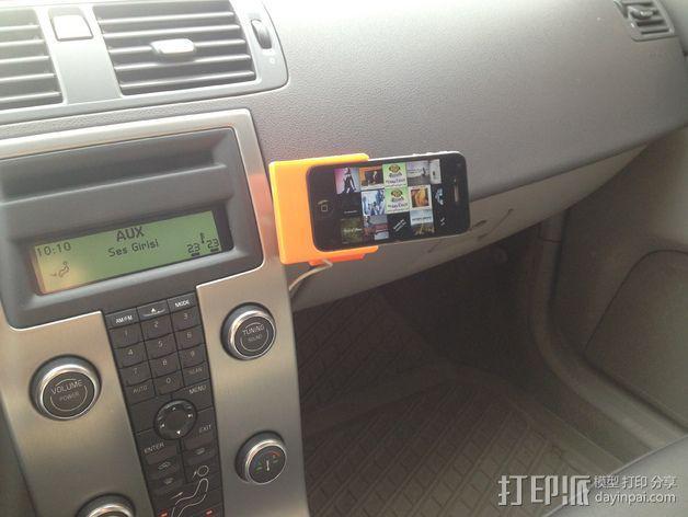 车载式iPhone 4/4s手机充电座 3D模型  图22