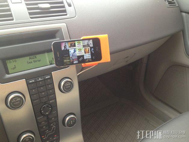 车载式iPhone 4/4s手机充电座 3D模型  图24