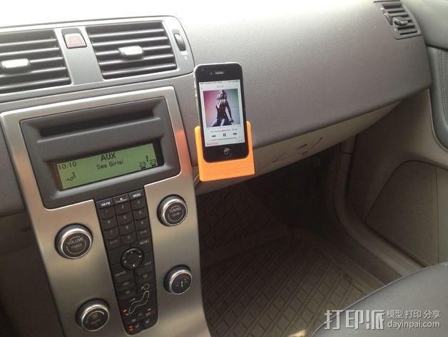 车载式iPhone 4/4s手机充电座 3D模型  图23