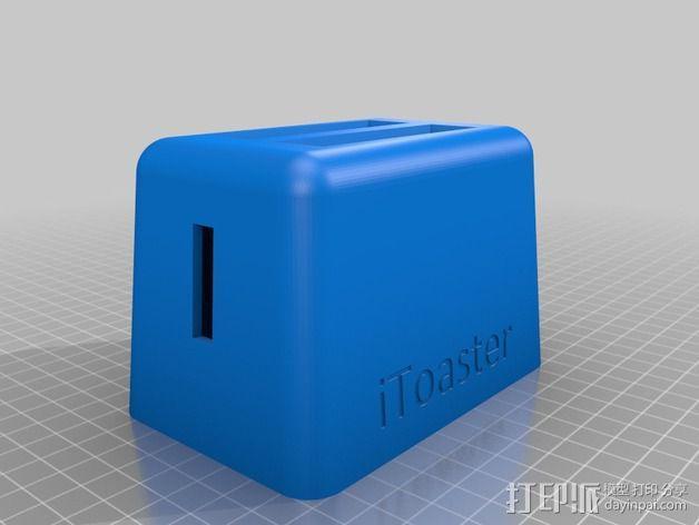 烤面包器式iPhone5/5s手机座 3D模型  图3