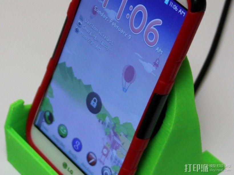 LG G2 手机充电座 3D模型  图1