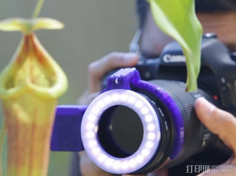 相机LED补光灯环  3D模型  图2