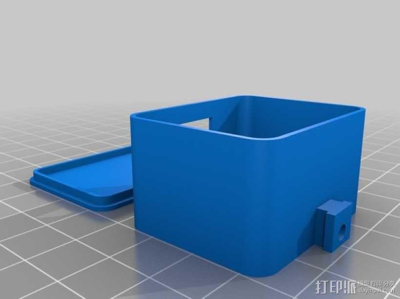 相机LED补光灯环  3D模型  图3