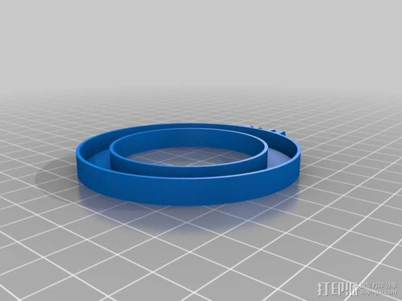 相机LED补光灯环  3D模型  图4
