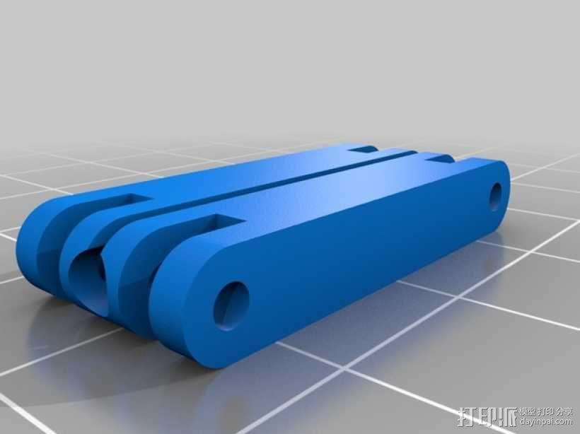 相机LED补光灯环  3D模型  图5