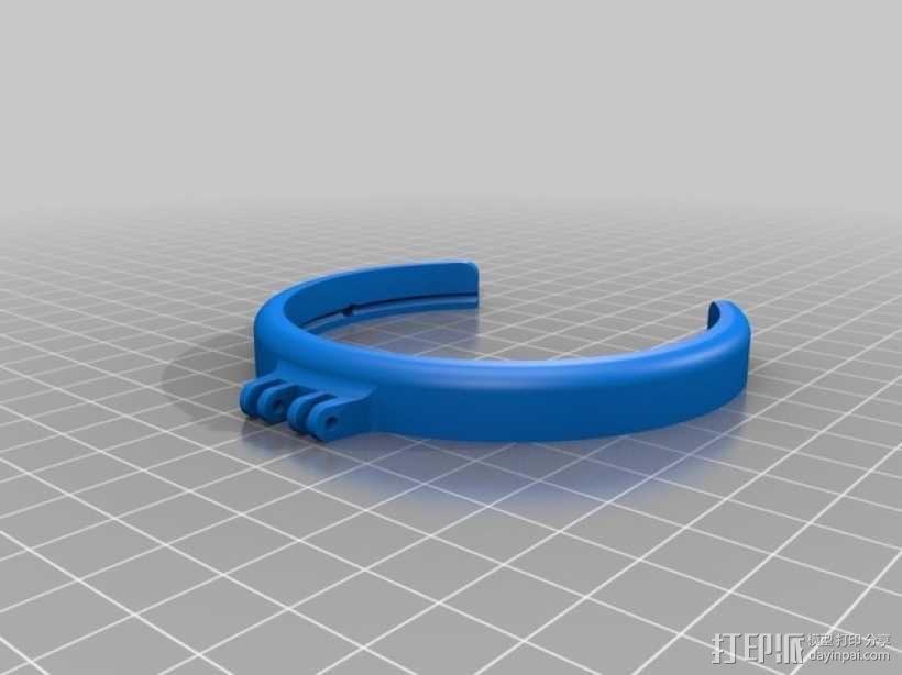 相机LED补光灯环  3D模型  图7