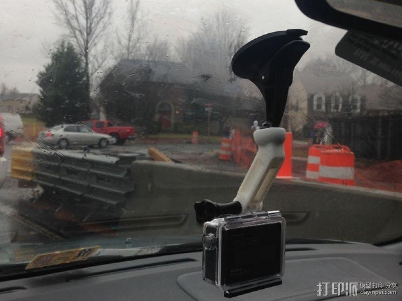 GoPro相机悬挂架 3D模型  图1