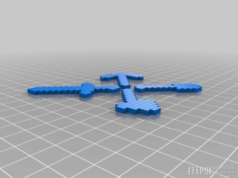 我的世界游戏道具 3D模型  图1