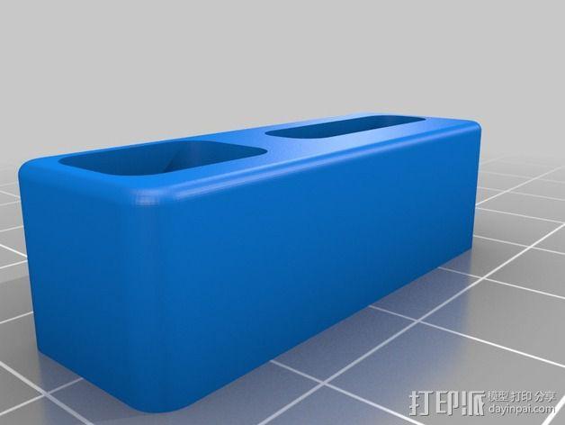 苹果Macbook Pro电脑插孔保护外壳 3D模型  图2