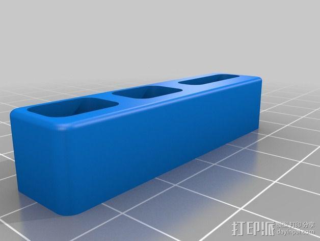 苹果Macbook Pro电脑插孔保护外壳 3D模型  图3